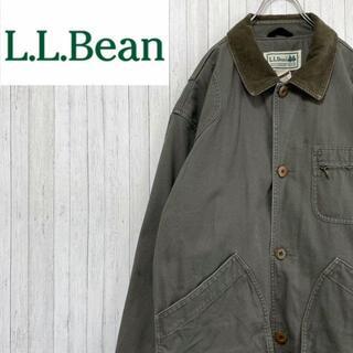 エルエルビーン(L.L.Bean)のエルエルビーン ハンティングジャケット ブルゾン カーキ インナーチェック M(ブルゾン)