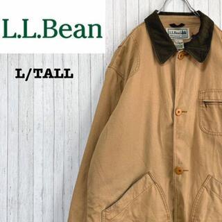 エルエルビーン(L.L.Bean)のエルエルビーン ハンティングジャケット インナー付 襟コーデュロイ ブラウン L(ブルゾン)