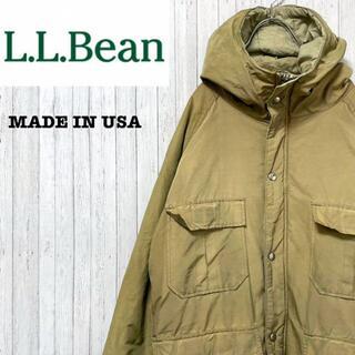 エルエルビーン(L.L.Bean)のエルエルビーン USA製 マウンテンパーカー ベージュ アウトドア L(ブルゾン)