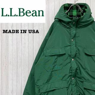 エルエルビーン(L.L.Bean)のエルエルビーン USA製 マウンテンパーカー グリーン ブランケットライナー(マウンテンパーカー)