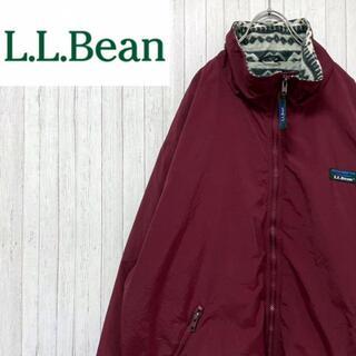 エルエルビーン(L.L.Bean)のエルエルビーン ナイロンジャケット インナーフリース 山ロゴ アウトドア XL(ナイロンジャケット)