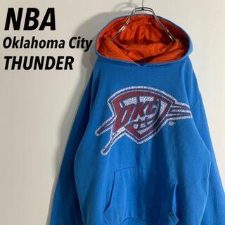 NBAブルーラベル オクラホマシティサンダー ビッグロゴ スウェットパーカ