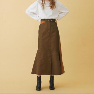 ステュディオス(STUDIOUS)のinella アシメカットロンスカート【新品未使用】(ロングスカート)