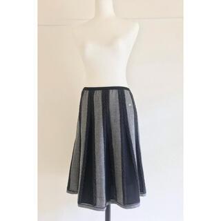 シャネル CHANEL ツィード  デザイン ニットスカート