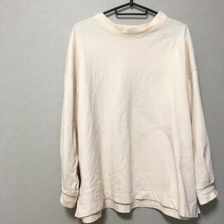 シマムラ(しまむら)のしまむら▶︎USAコットン ロンT 生成り サイドスリット(Tシャツ/カットソー(七分/長袖))