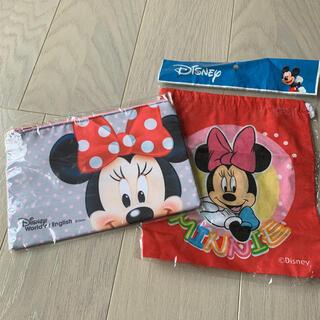 ディズニー(Disney)の☆新品未使用☆ ディズニー ミニー小物入れ2点セットディズニー 巾着 ミニ巾着 (その他)