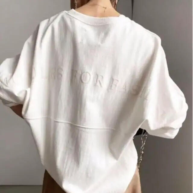 Ameri VINTAGE(アメリヴィンテージ)のAmeri VINTAGE BACK PRINT BASEBALL TEE レディースのトップス(Tシャツ(長袖/七分))の商品写真