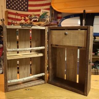 木製 スパイスボックス 調味料入れ ハンドメイド