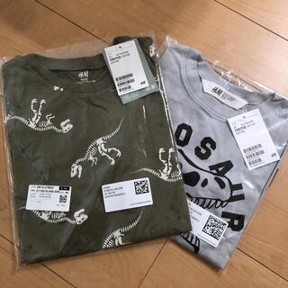 エイチアンドエム(H&M)の新品★ 恐竜 半袖シャツ 2枚 110/115サイズ(Tシャツ/カットソー)