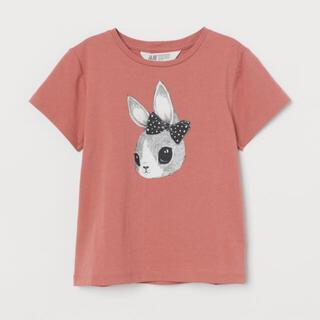 エイチアンドエム(H&M)の新品★ うさぎ 半袖Tシャツ 100/105サイズ(Tシャツ/カットソー)