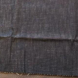 デニム はぎれ 生地 約130*65cm 黒(生地/糸)