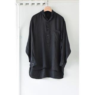 COMOLI - COMOLI 21SS リネンダブルクロスプルオーバーシャツ サイズ3 新品