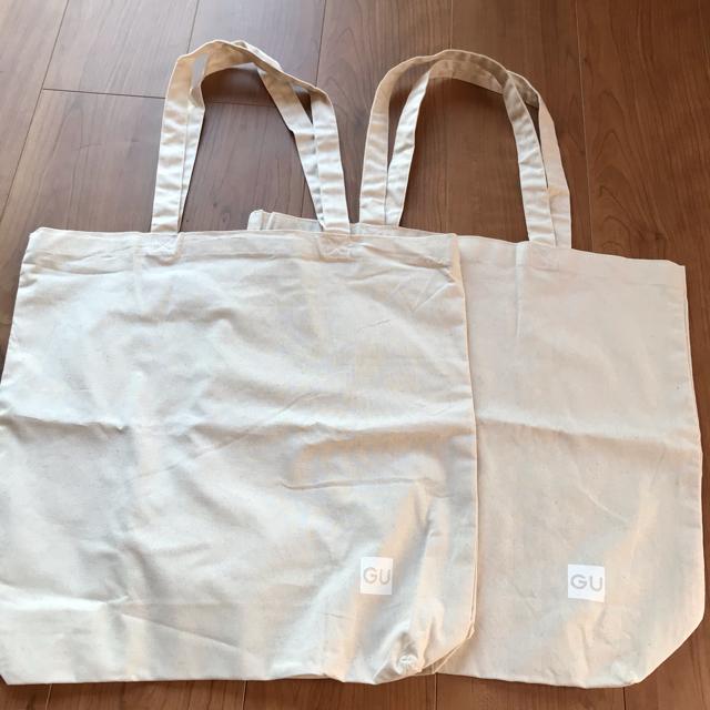GU(ジーユー)の☆新品!ジーユーバッグ2枚セット☆ レディースのバッグ(トートバッグ)の商品写真