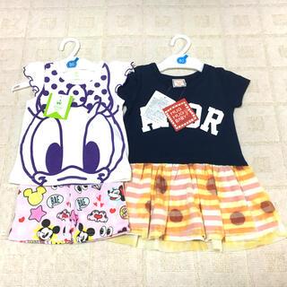 Disney - 【新品】ディズニーTシャツ&ディズニーパンツ&ワンピース 3枚セット