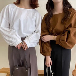 TODAYFUL - lawgy stitch blouse brown/titivate coca
