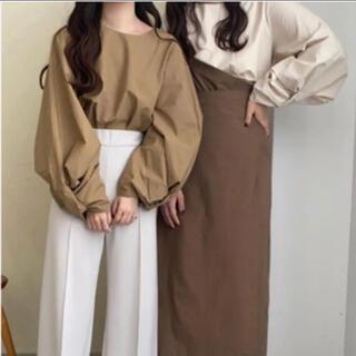 TODAYFUL - lawgy sleeve design blouse khaki