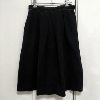 スタディオクリップ(STUDIO CLIP)の【studio CLIP/スタディオクリップ】スカート フレアスカート ブラック(ひざ丈スカート)