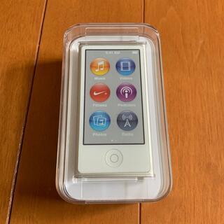 アイポッド(iPod)のApple iPod nano MKN22J/A 16GB シルバー 未使用品(ポータブルプレーヤー)