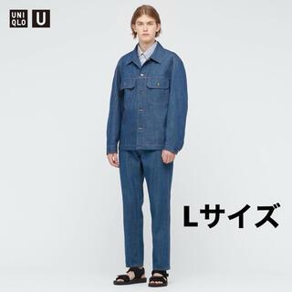 ユニクロ(UNIQLO)のUNIQLO U コットントラッカージャケット ブルー(Gジャン/デニムジャケット)
