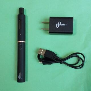 プルームテック(PloomTECH)のプルームテックプラス(ブラック)、充電器付き、中古(タバコグッズ)