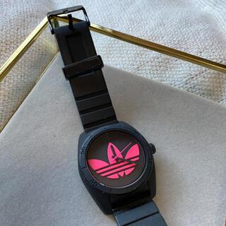 アディダス(adidas)の断捨離中‼️アディダス 時計 ブラック×ピンク ☽☽(腕時計)