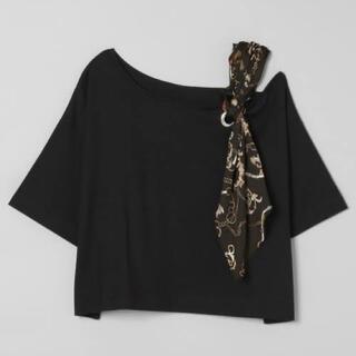 JEANASIS - JEANASIS ジーナシス ショルダースカーフアシメTEE Tシャツ