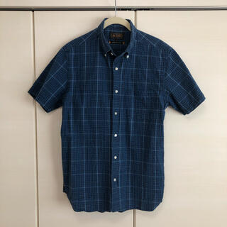 BEAMS - BEAMS PLUS ビームスプラス + シアサッカー インディゴチェックシャツ