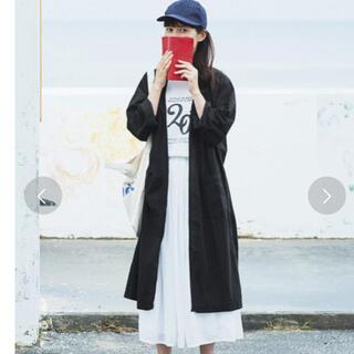 フェリシモ(FELISSIMO)の新品未使用 サニークラウズ  極薄コート ブラック オーバーサイズ 完売品(ロングコート)