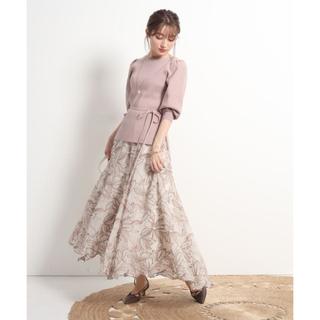 Apuweiser-riche - 【タグ付き】Apuweiser-riche エアリー刺繡ロングスカート