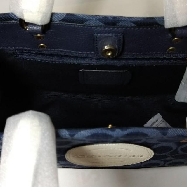 COACH(コーチ)のCOACH  バッグ 2way シグネチャー デニム ダークブルー  レディースのバッグ(ショルダーバッグ)の商品写真