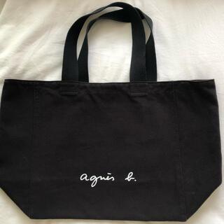 agnes b. - agnes b. アニエスベー ロゴトートバッグ 黒