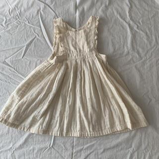 Caramel baby&child  - himher apron dress  ヒムハーチルドレン ワンピース