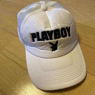 プレイボーイ(PLAYBOY)の白 キャップ 帽子 プレイボーイ(キャップ)