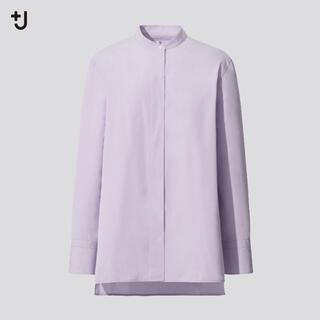 UNIQLO - 新品 ユニクロ +J ジルサンダー スーピマコットン スタンドカラー シャツ S
