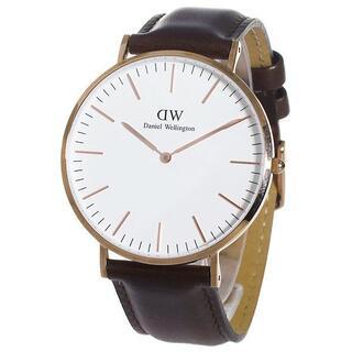 ダニエルウェリントン(Daniel Wellington)の新品ダニエルウェリントン 40MMローズゴールド クォーツ DW00600009(腕時計(アナログ))