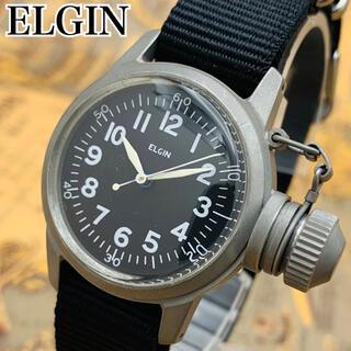 OH済【美品】エルジン アンティーク ミリタリー グレード750 手巻き 腕時計