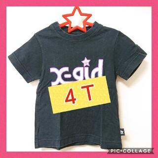 エックスガールステージス(X-girl Stages)のX-girl stages 4T 100cm 半袖Tシャツ エックスガール 黒(Tシャツ/カットソー)