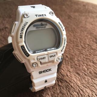 タイメックス(TIMEX)のTIMEX タイメックス ホワイト デジタル(腕時計(デジタル))