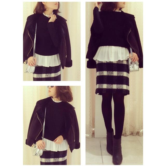 MERCURYDUO(マーキュリーデュオ)のこじはる着用!MERCURYDUO♡チェックペンシルスカート レディースのスカート(ミニスカート)の商品写真