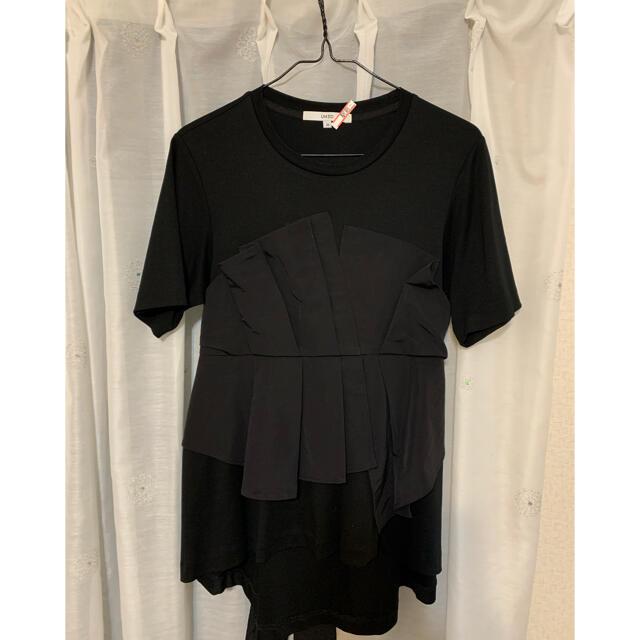 ENFOLD(エンフォルド)のUN3D アンスリード ビスチェドッキングTシャツ  レディースのトップス(Tシャツ(半袖/袖なし))の商品写真