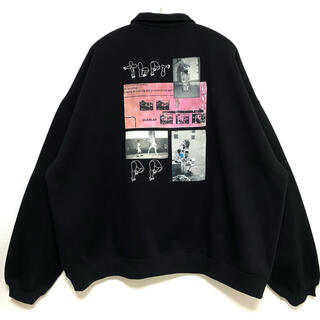 Supreme - TIGHTBOOTH PAT HALF ZIP SWEAT black XL