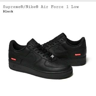 シュプリーム(Supreme)のSupreme Air Force 1 Low 黒、白  US8 26㎝(スニーカー)