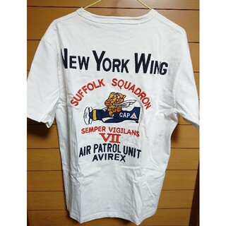 AVIREX - AVIREX 6173298 N.Y.C. WING 刺繍Tシャツ