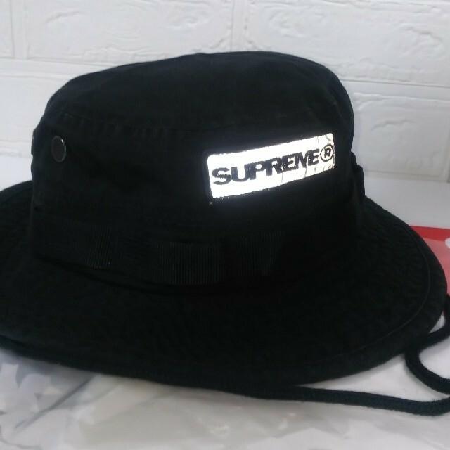 Supreme(シュプリーム)のSupreme  Reflective Patch Boonie  S/M 黒 メンズの帽子(ハット)の商品写真