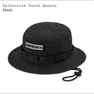 シュプリーム(Supreme)のSupreme  Reflective Patch Boonie  S/M 黒(ハット)