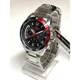 テクノス(TECHNOS)のテクノス  クロノグラフ   10気圧防水  ブラック(腕時計(アナログ))