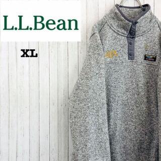 エルエルビーン(L.L.Bean)のエルエルビーン フリースジャケット 霜降り アウトドア ライトグレー XL(その他)