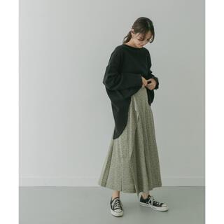 ケービーエフプラス(KBF+)の【KBF +】柄プリーツラップスカート(ロングスカート)