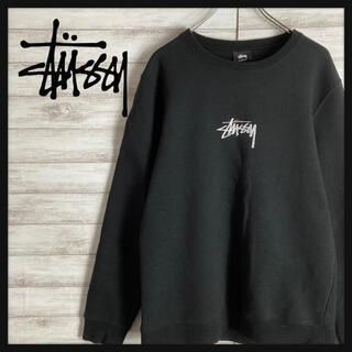 STUSSY - 【刺繍ロゴ】ステューシー センター刺繍ロゴ スウェット 即完売モデル