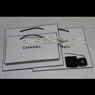 CHANEL - CHANEL シャネル コンパクトミラー ショッパー リボン